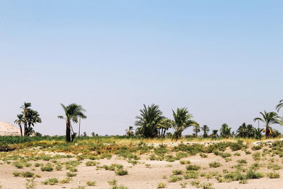 Kale vlakte Vallei der Koningen in Egypte