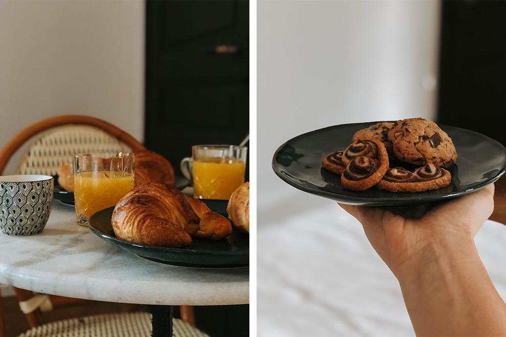 Gewekt worden met knapperige, versgebakken croissantjes