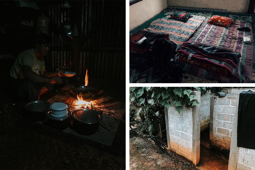 Primitief overnachten in Myanmar