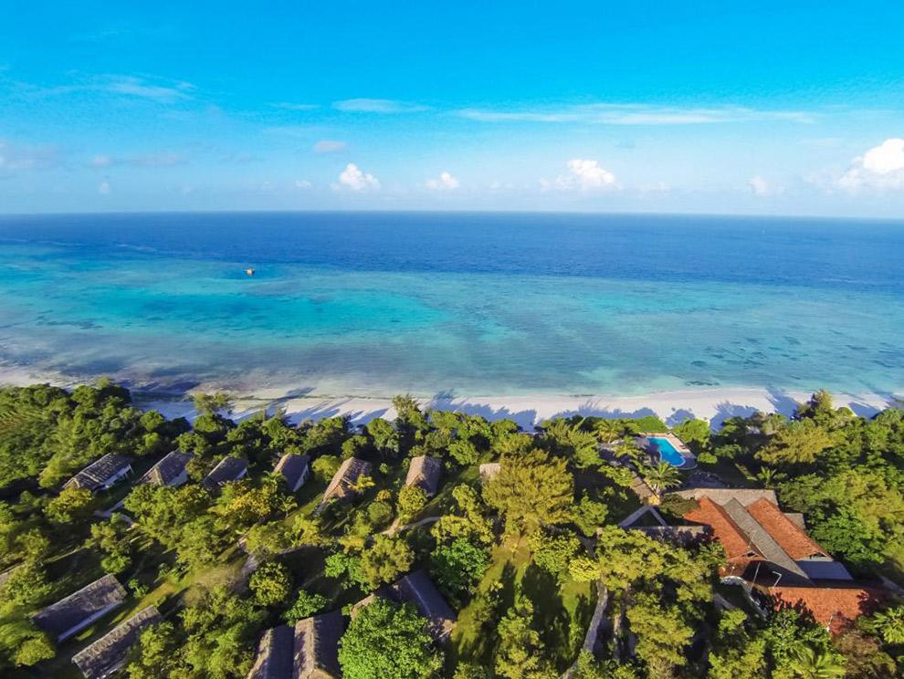 Het Pembla Island aan de kust van Tanzania