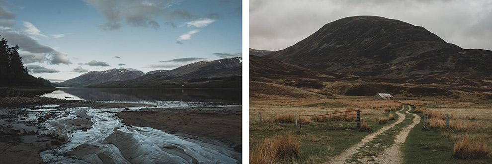 Landschap verandert continu tijdens wandelen in Schotland