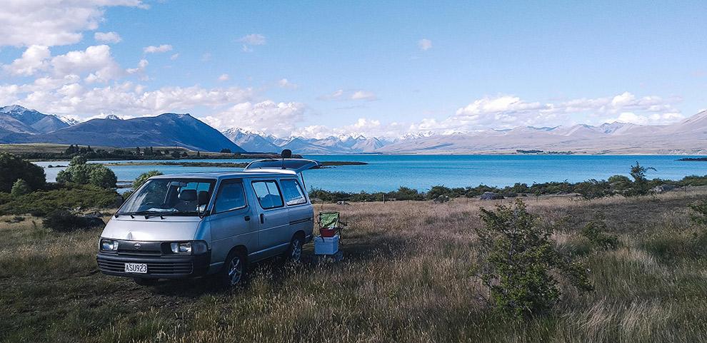 Gratis kamperen in Nieuw-Zeeland met spectaculair uitzicht