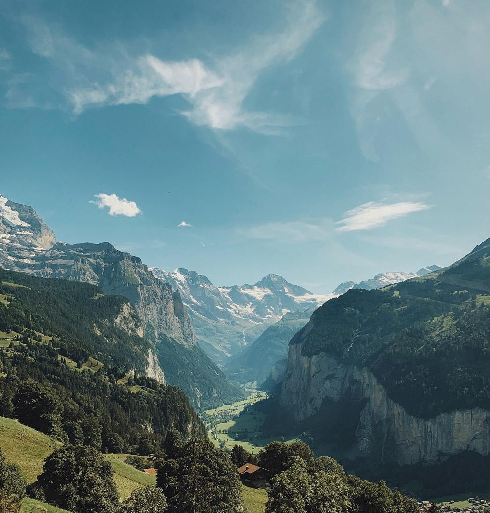 Uitzicht op het Junfrau Massief