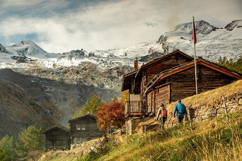 Wandel over educatief gletsjerpad in Wallis