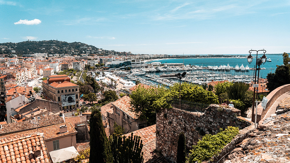 Uitzicht op de haven van Cannes