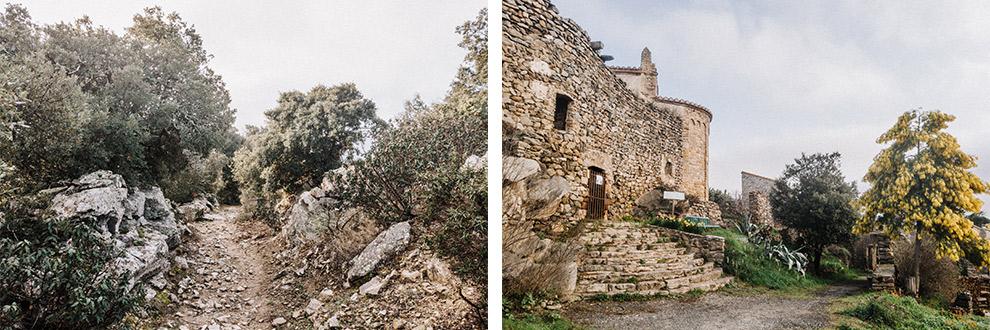Wandeling langs oude stenen muren