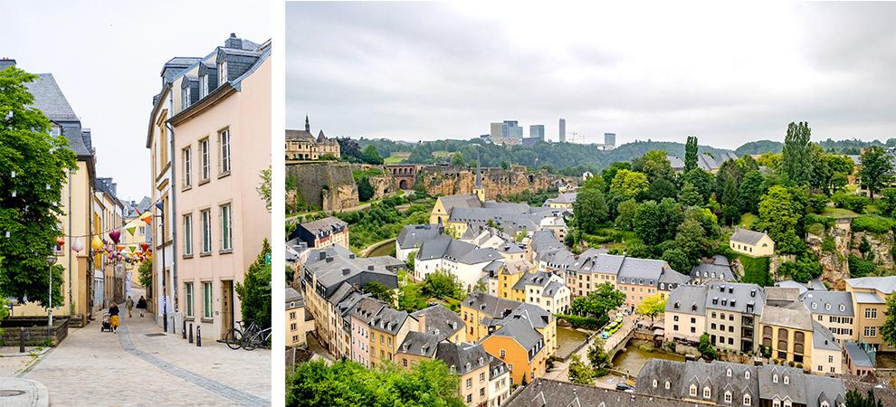 Het oude stadscentrum van Luxemburg-stad