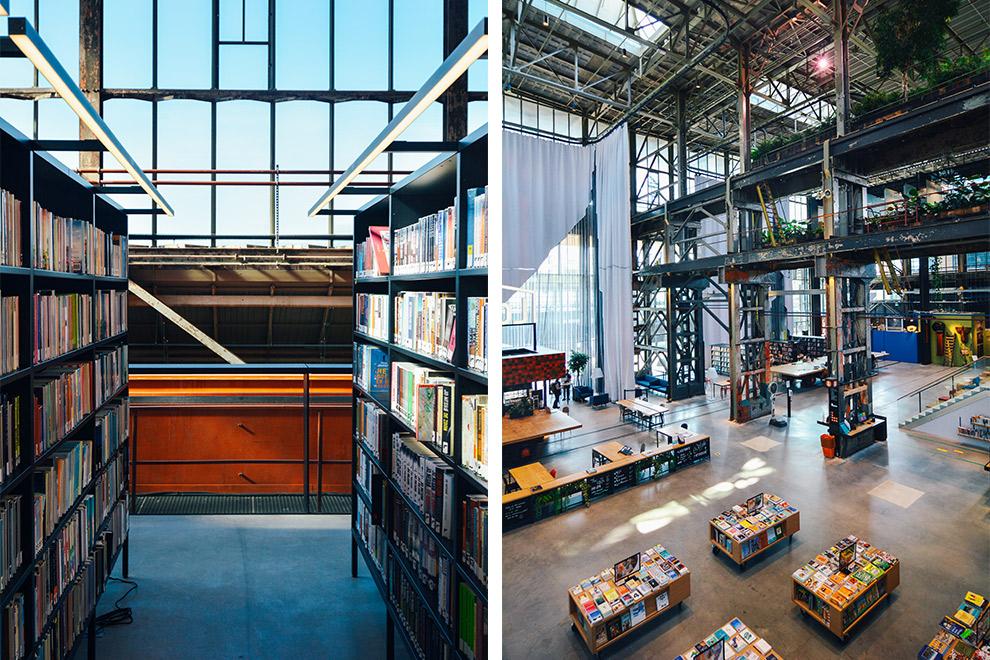 Industrieel pand vol boeken bij Lochal in Tilburg