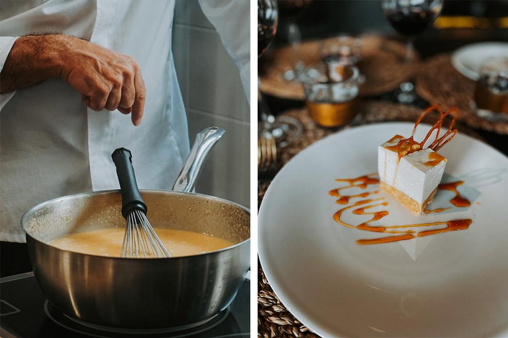 Culinaire proeverij in de keuken van Zwitserse chefkok