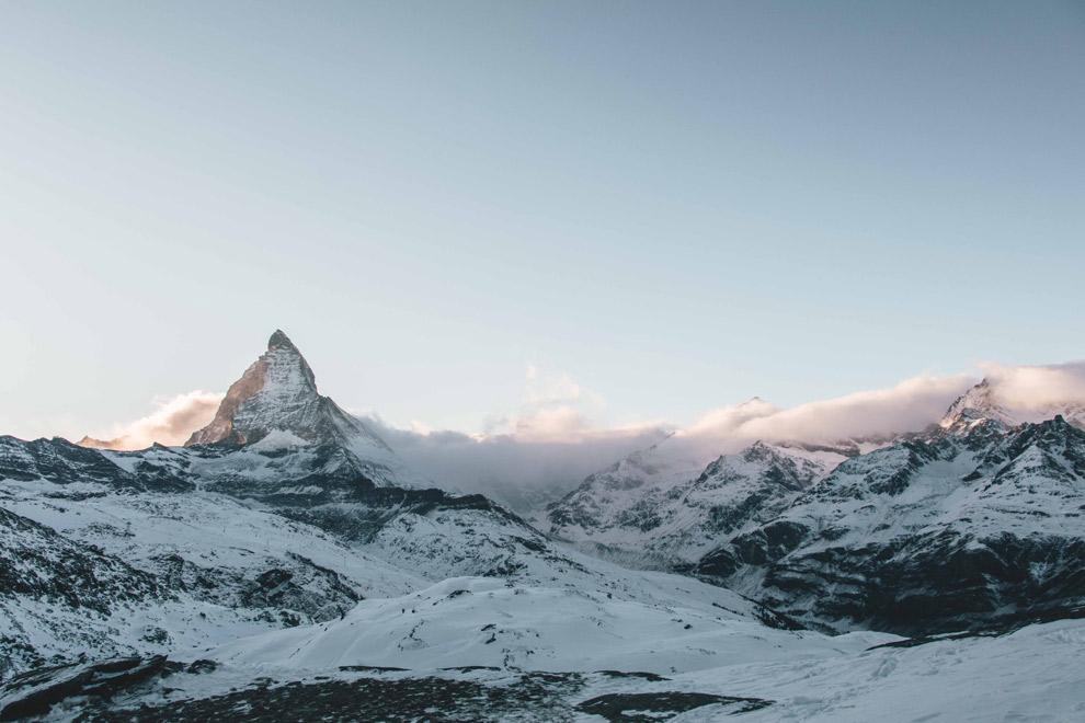 De beruchte bergtop Matterhorn in Zwitserland