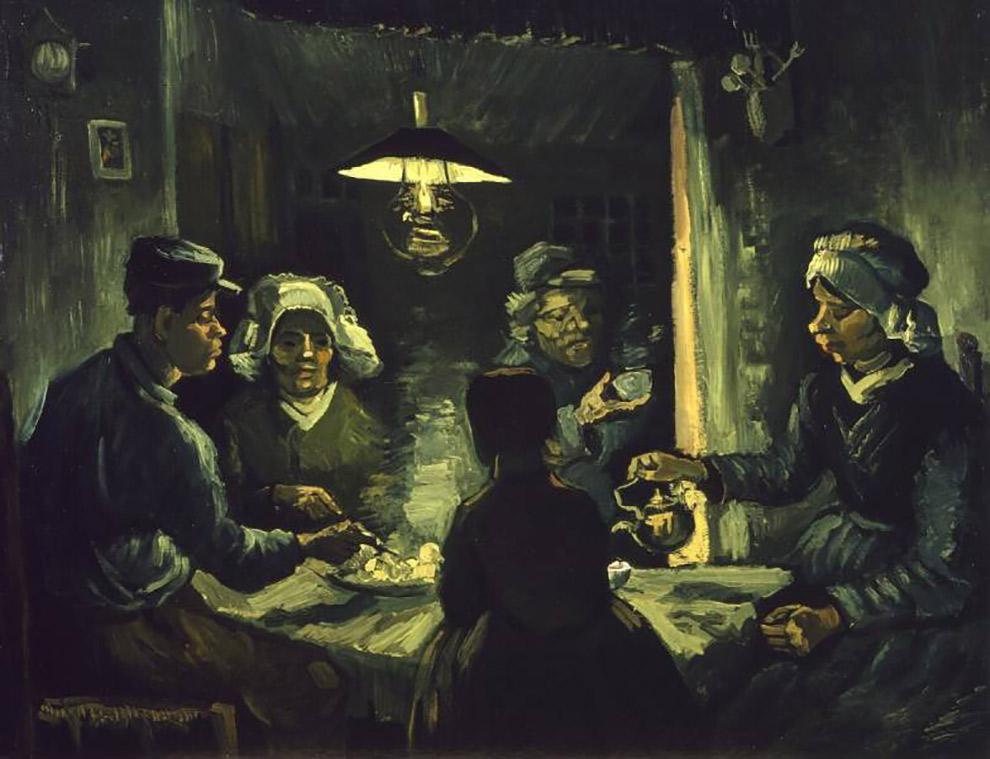 Studie-schilderij Aardappeleters Van Gogh