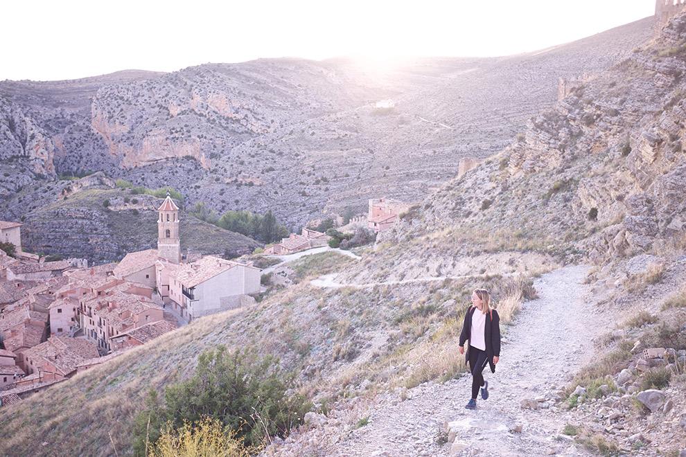 Uitzicht over het middeleeuwse stadje Albarracin in Spanje.