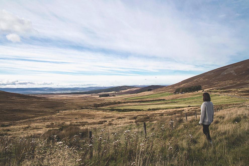 Open valleien in de Schotse Hooglanden