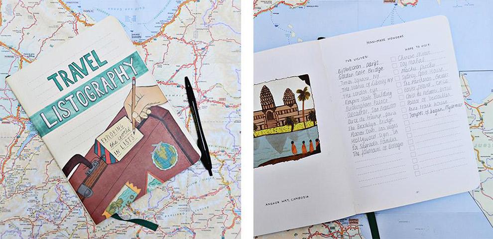Travel Listography boekje om reizen in lijstjes bij te houden