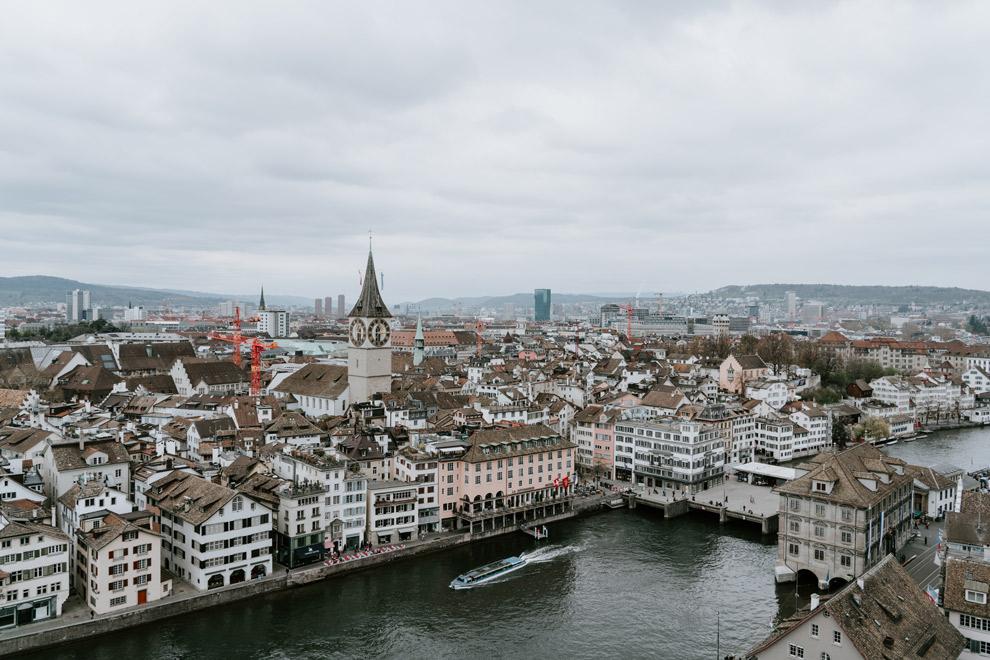 Uitzicht over de stad Zurich