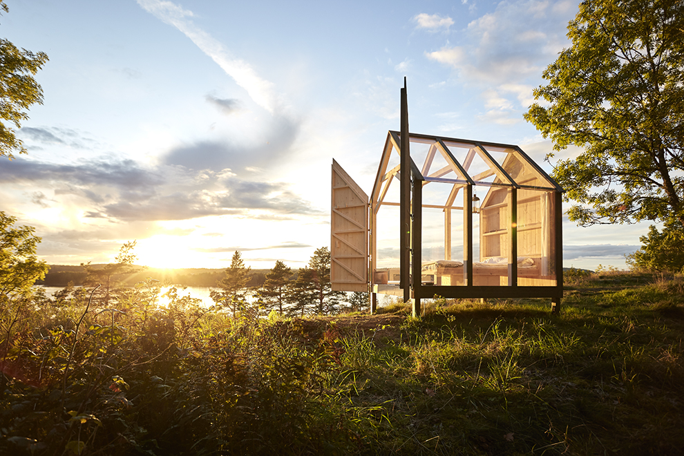 De 72-uurs glazen cabine in de Zweedse natuur