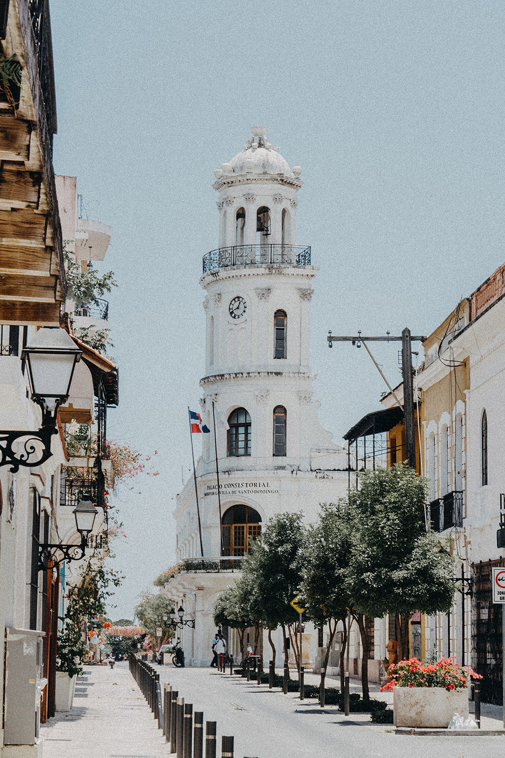 Historisch wit stadje Santo Domingo in de Dominicaanse Republiek