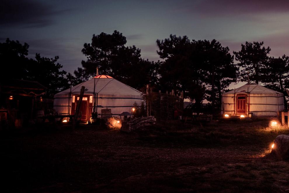 Texelse Yurt in het donker