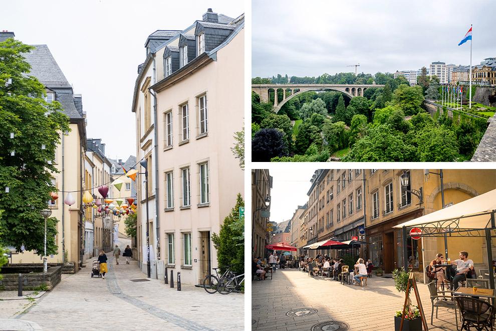 Luxemburg-stad en zijn mooie uitzichtpunten en gezellige terrasjes