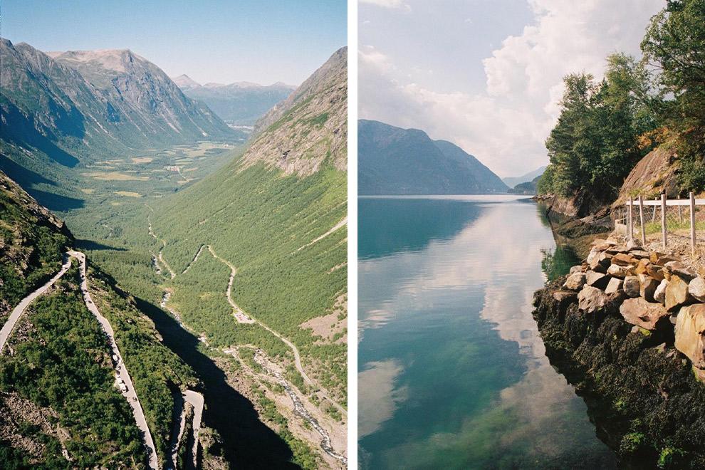 Spectaculaire uitzichten op de route in Noorwegen