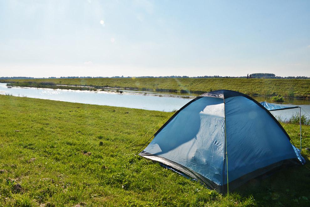 Tent opzetten bij camping de Witboom