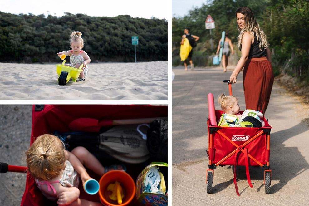 Met de Coleman campingcar naar het strand