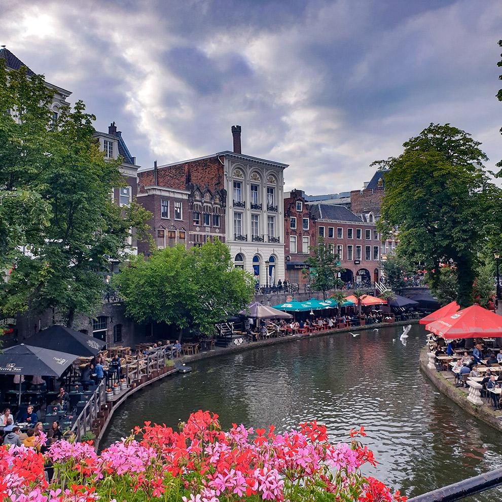 Uitzicht op de grachten van Utrecht