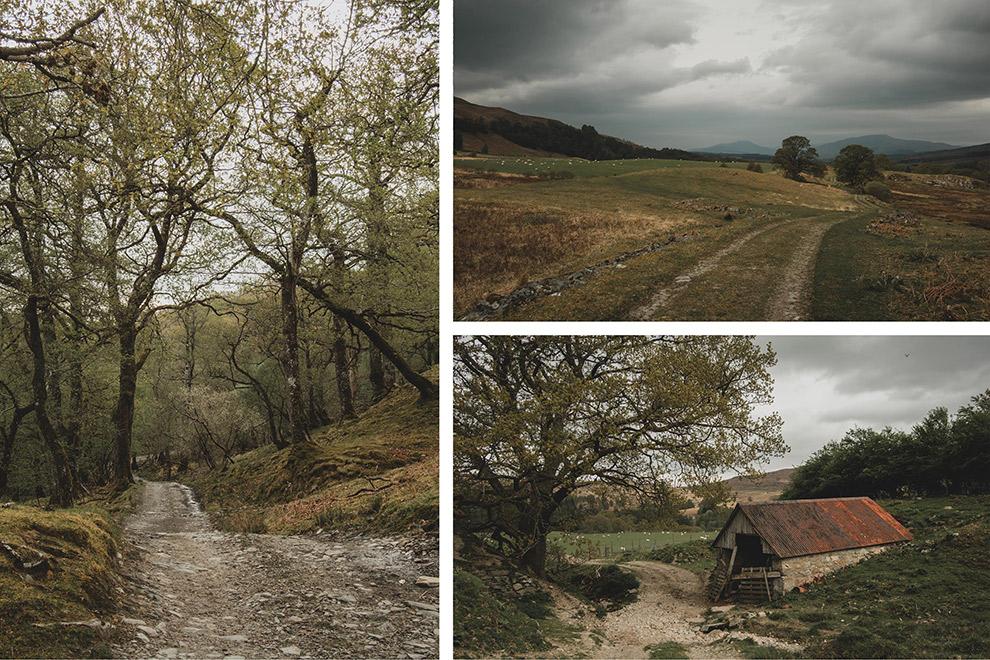 Ruige landschap tijdens avontuurlijke hike in Schotland