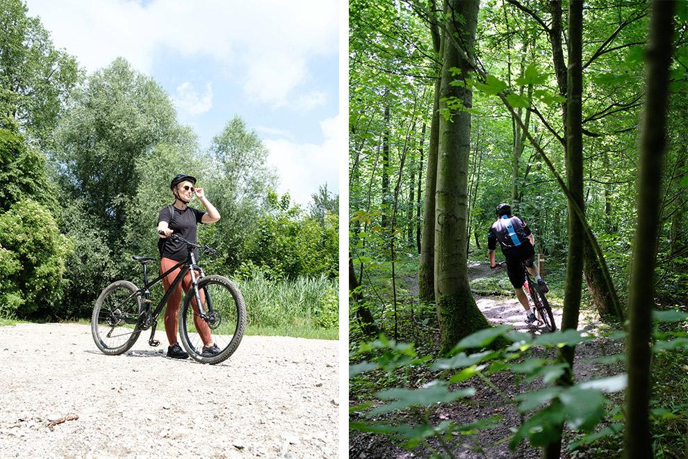 Mountainbiken in de groene bussen van Almere