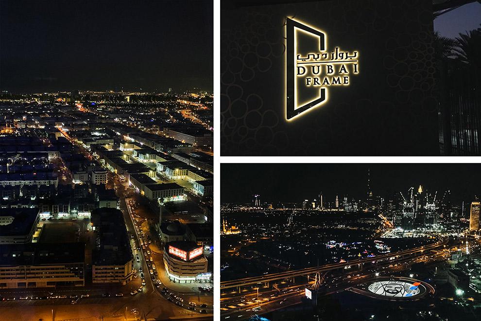 De hoogte in gaan bij het Dubai Frame hotel