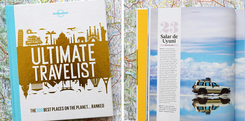 Boek Utlimate Travelist vol interessante plekken op de wereld