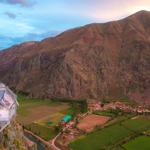 Stay overnight at a cliff in Peru