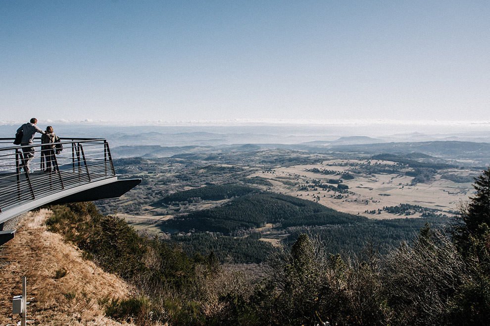 Uitkijkpunt op de top van de Puy de Dôme