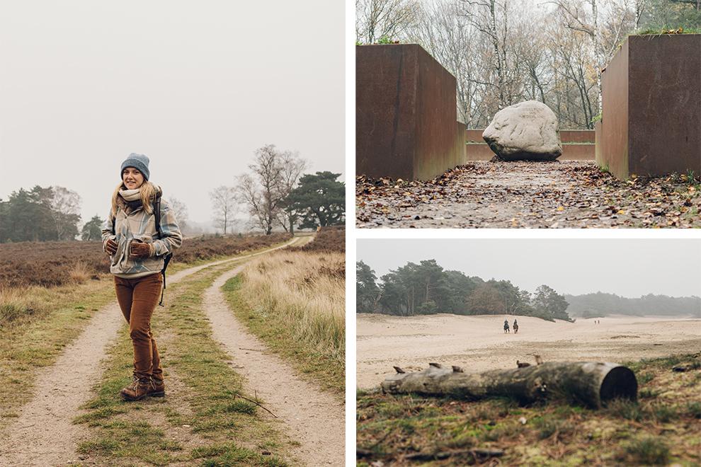 Wandelen op een winterse dag in de Veluwe