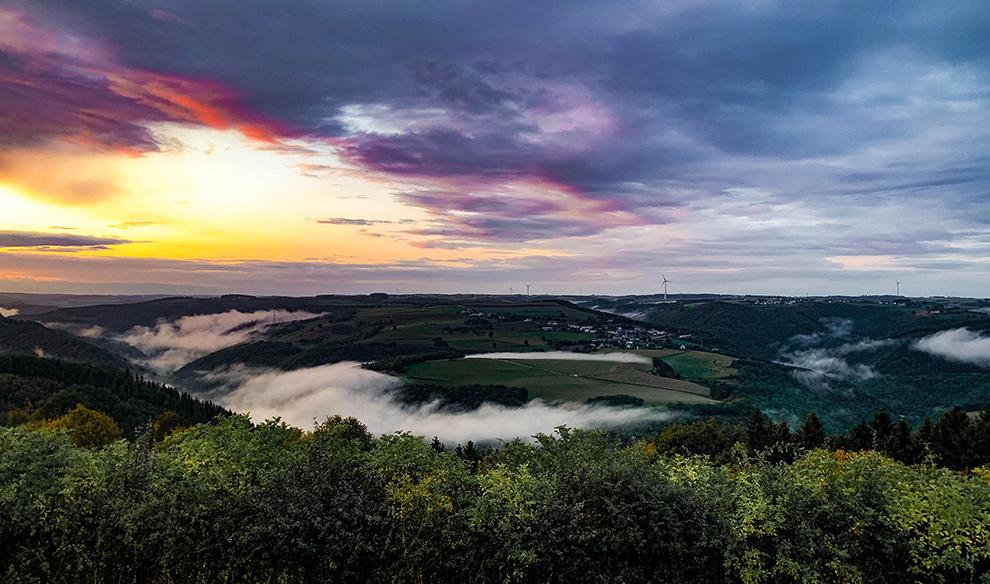 Dramatische vergezichten over het Luxemburgse landschap