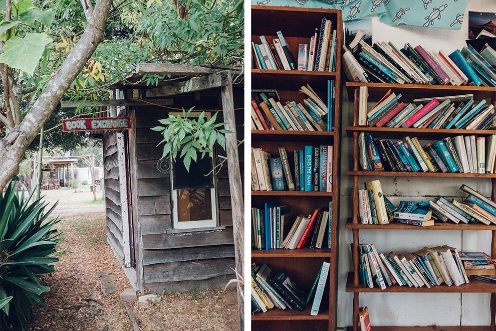 Hutje bestemd voor uitwisseling boeken