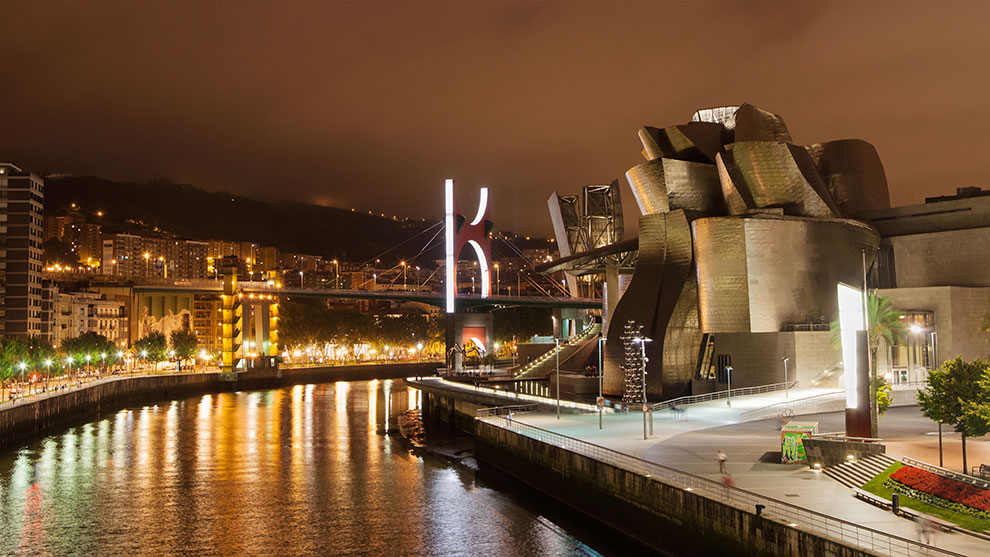 Guggenheim museum in Bilboa, Spanje