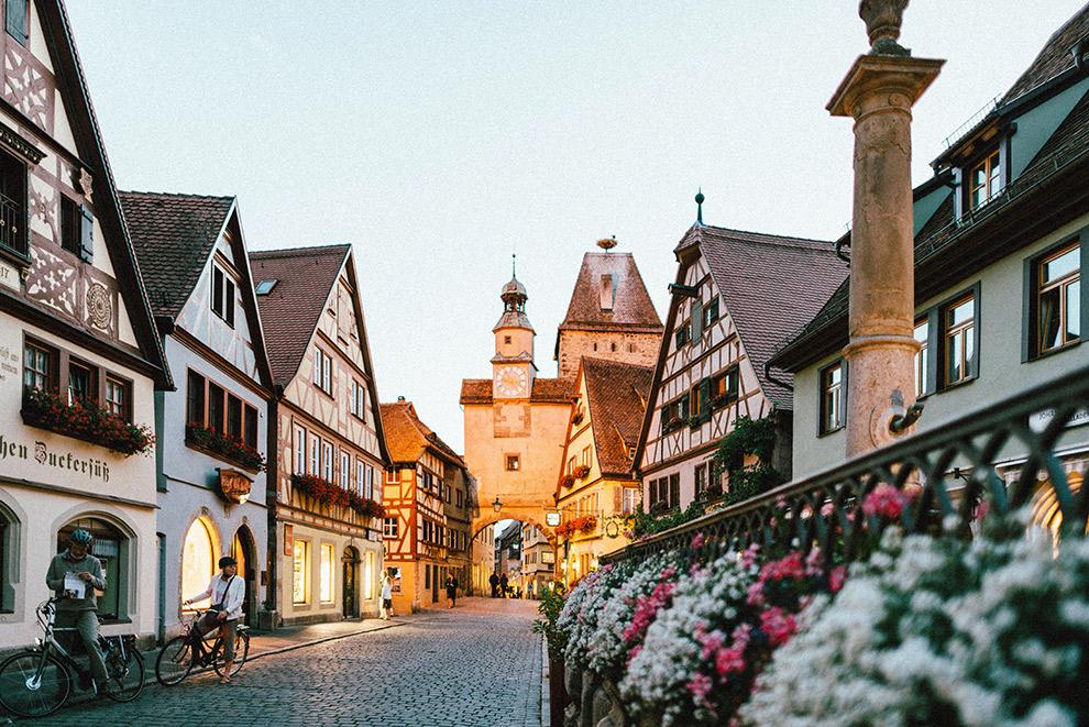 Typisch Duits romantisch straatje