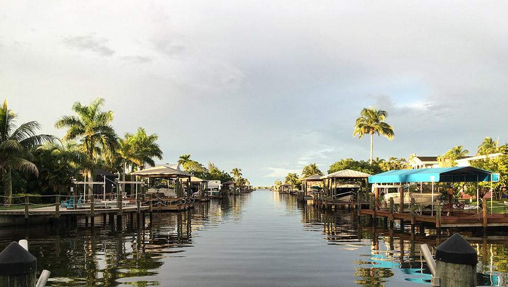 Rustige wateren van zomers Florida