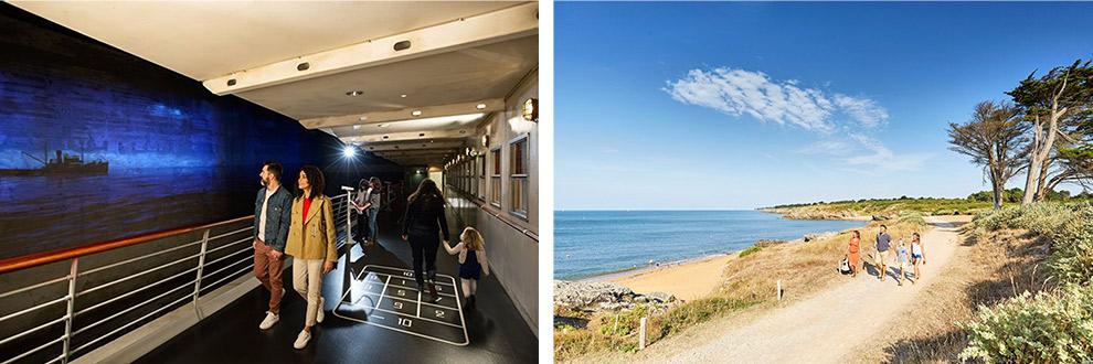 Museum Escal Alantic en uitzicht over de Frans Atlantische Kust