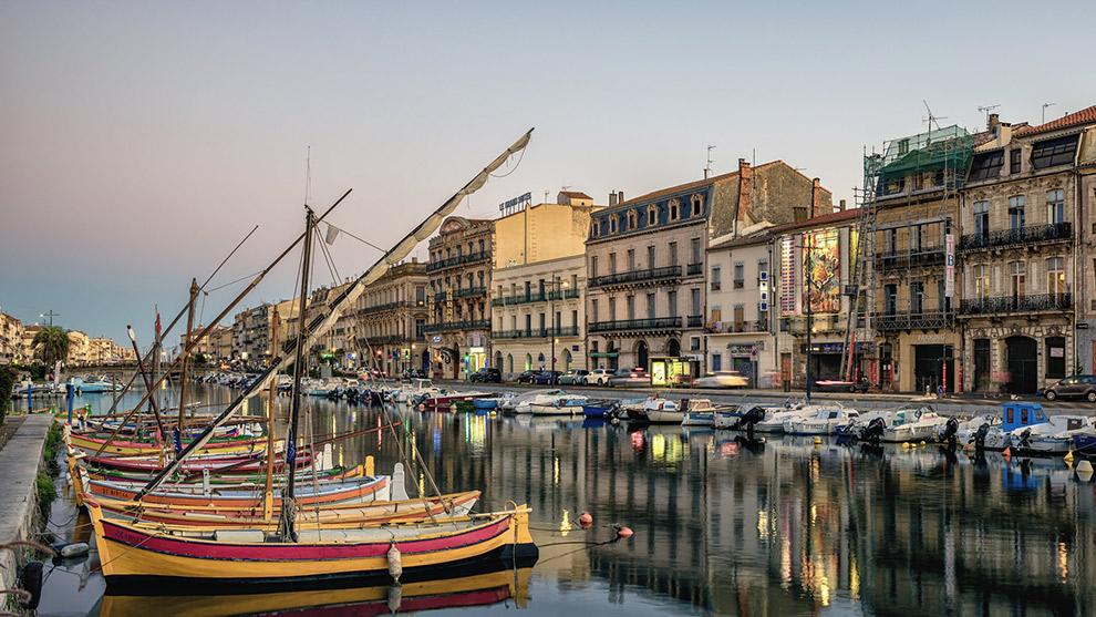 Uitzicht op de haven van Sète