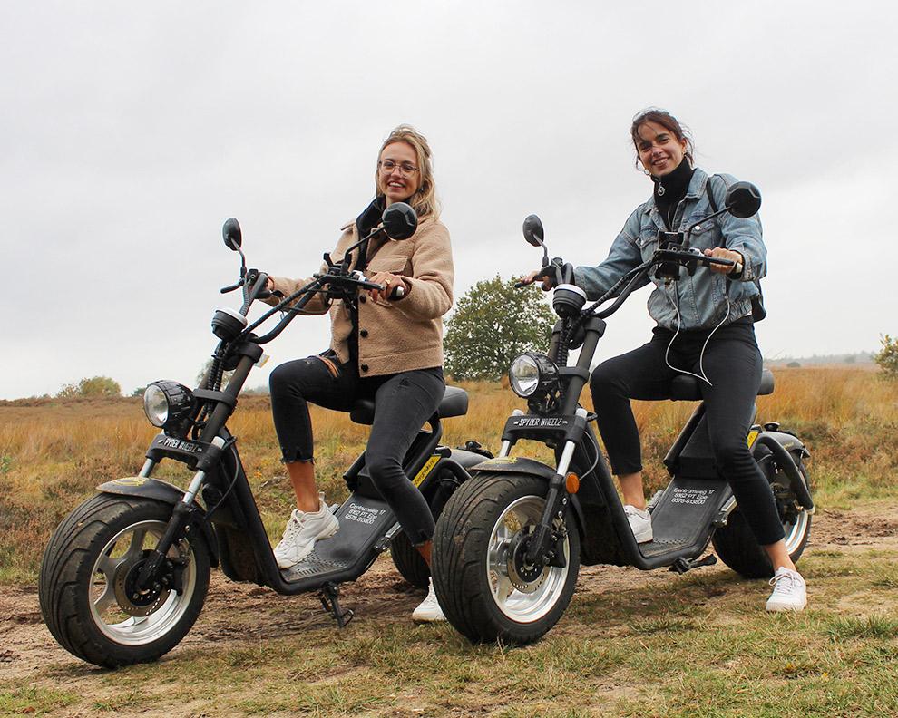 Elektrisch rijden op de e-chopper over de Veluwe