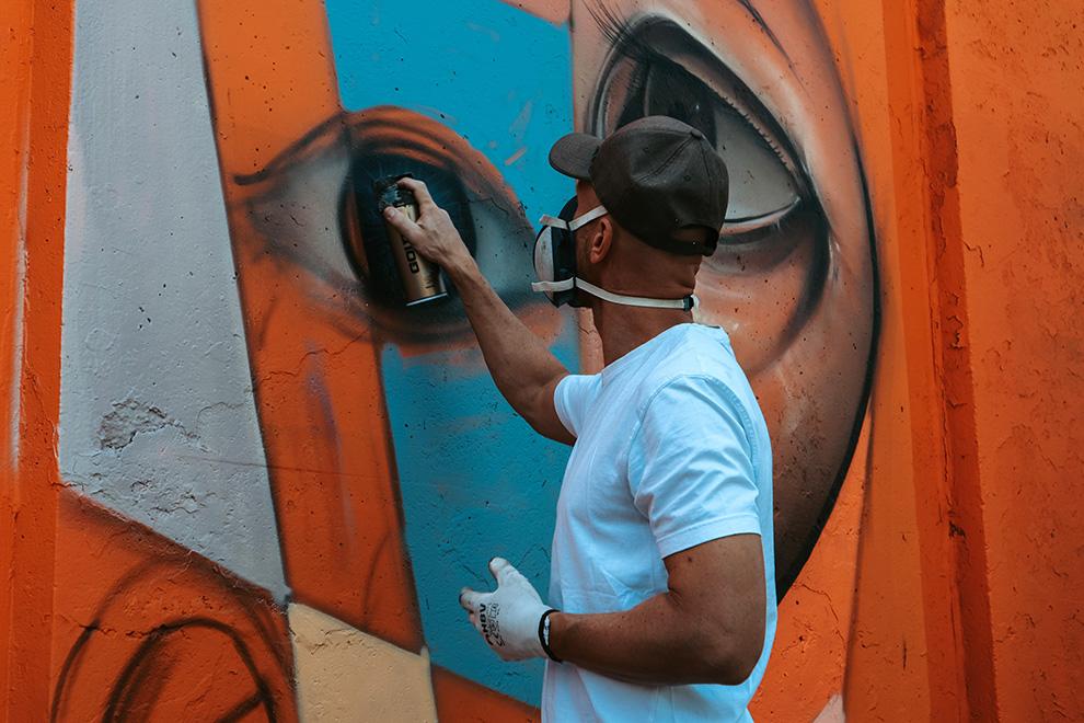 Graffiti artiest in Eindhoven