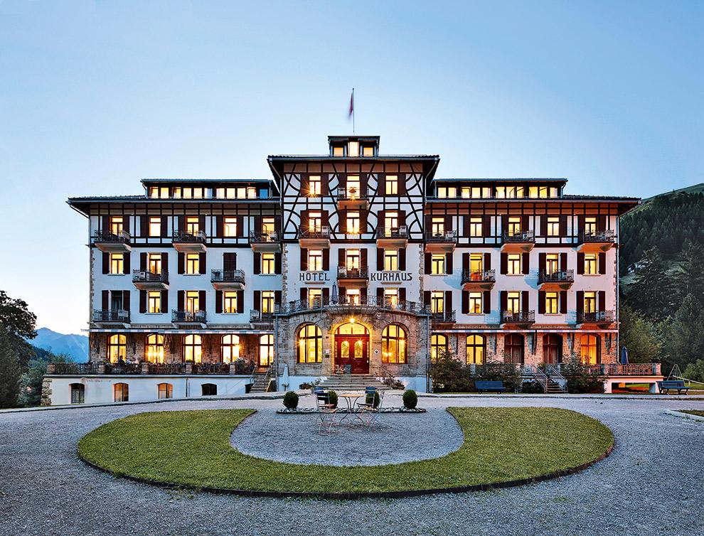 Het imposante art nouveau hotel Kurhaus Bergün in Zwitserland