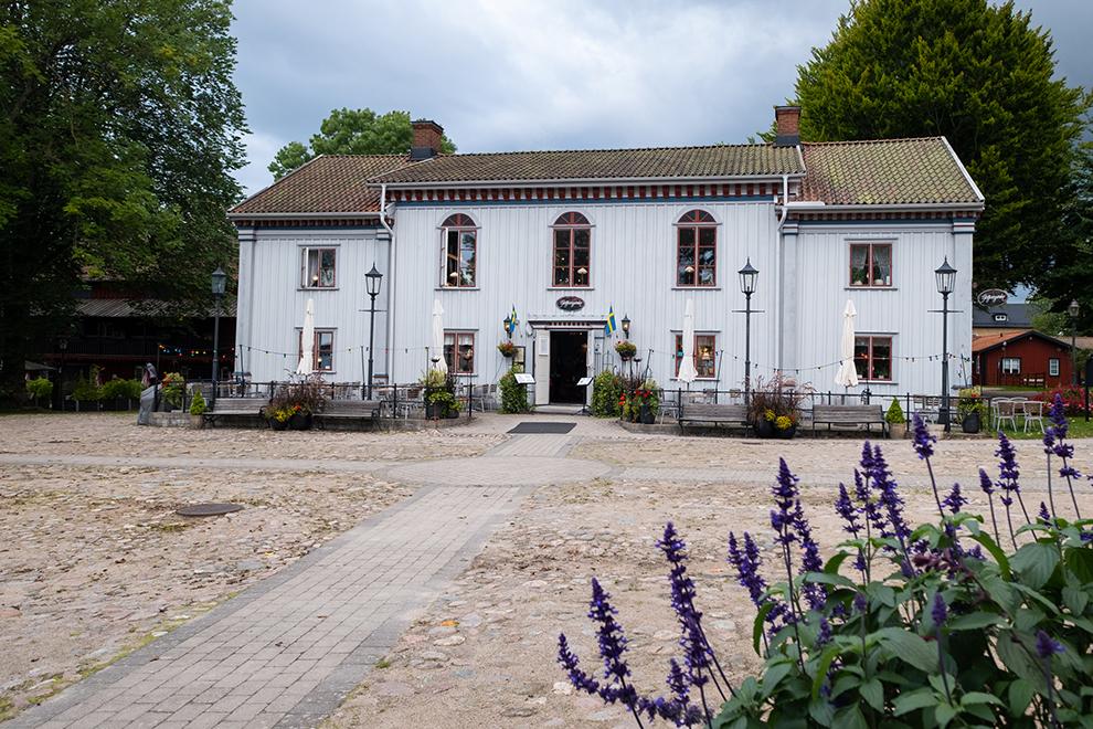 Museum of legends in een wit en typisch Zweeds pand