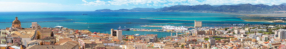 Uitkijkpunt met uitzicht over heel Cagliari