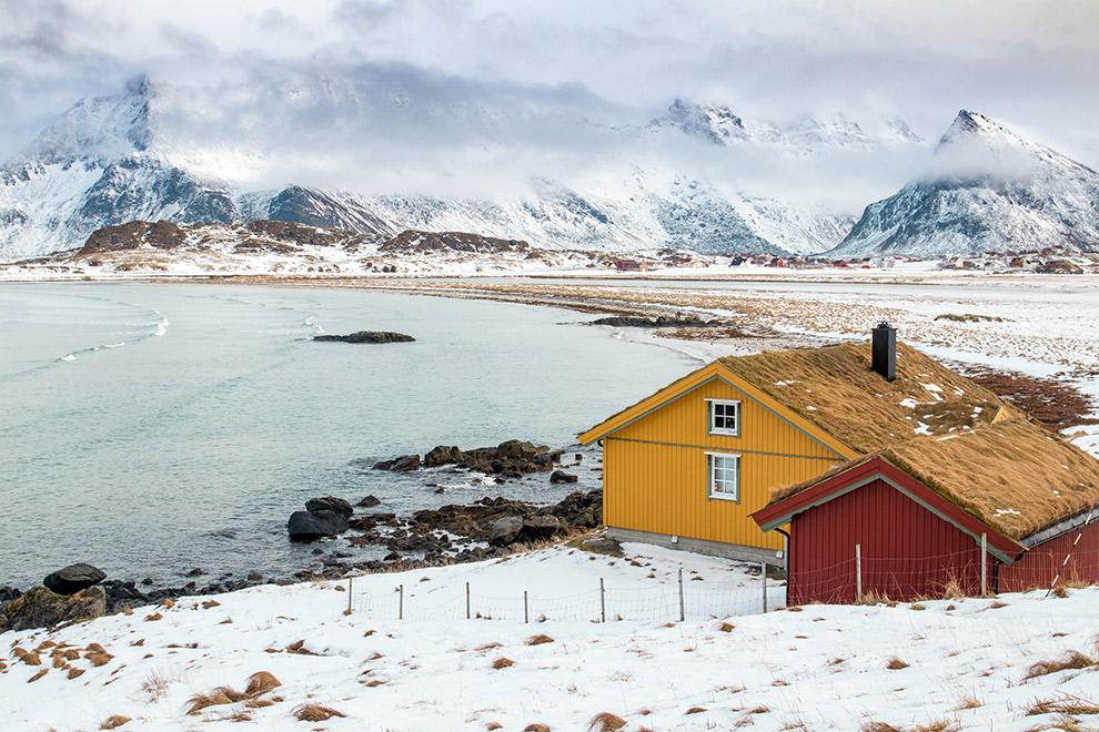 Winterlandschap in de Artic Circle