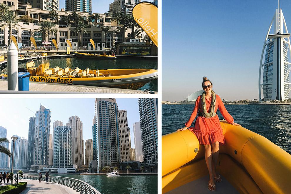 Met de gele watertaxi door Dubai navigeren