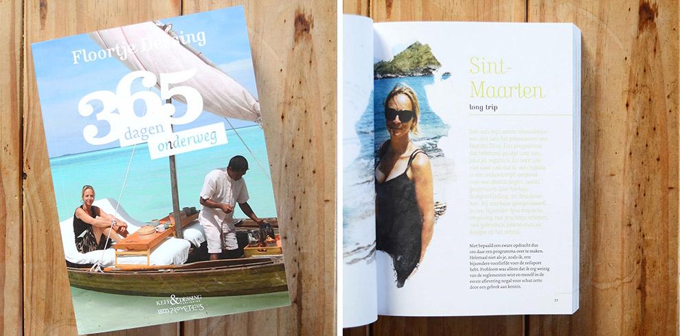 Boek waarin Floortje Dessing in 365 dagen de wereld rond gaat