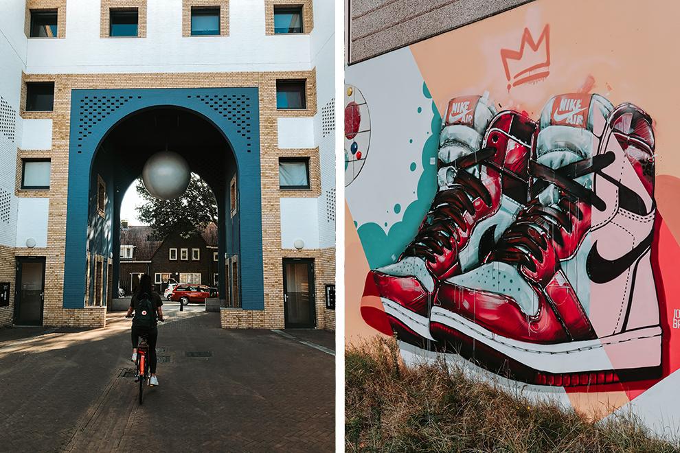 Fietsen door Woensel en langs graffiti kunst